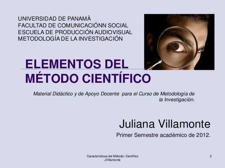 Elementos del método científico Slide 2