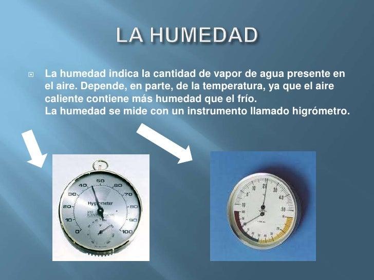Elementos del tiempo atmosf rico - Aparato para la humedad ...