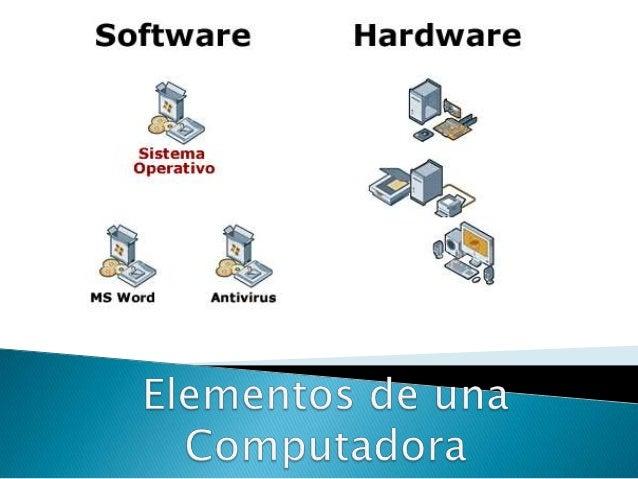  Parte lógica del computador, comprende el conjunto de componentes lógicos para poder hacer posible una tarea. Se dice qu...