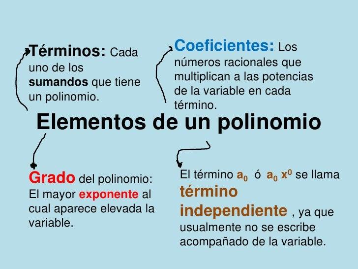 Elementos de un polinomio for Elementos de un vivero
