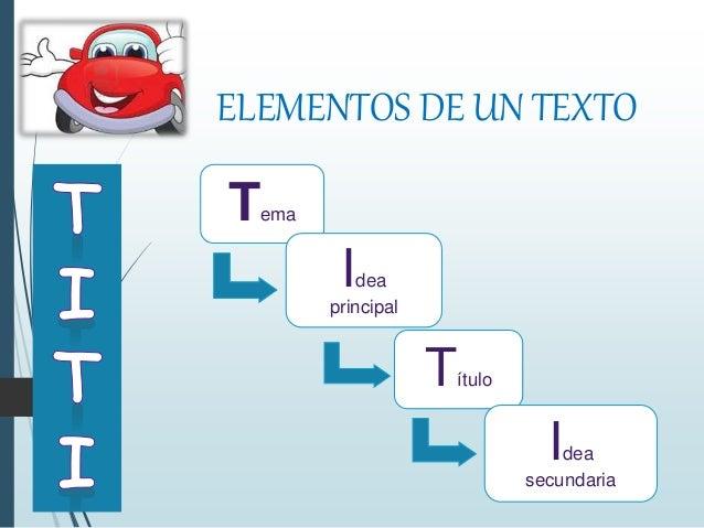 Elementos de un texto for Elementos de un vivero