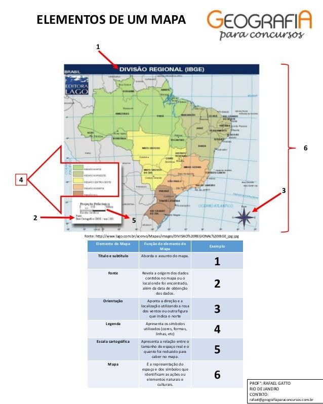 Elementos Do Mapa Professor Rafael Gatto