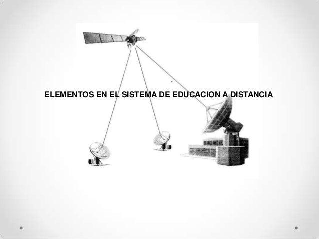 ELEMENTOS EN EL SISTEMA DE EDUCACION A DISTANCIA