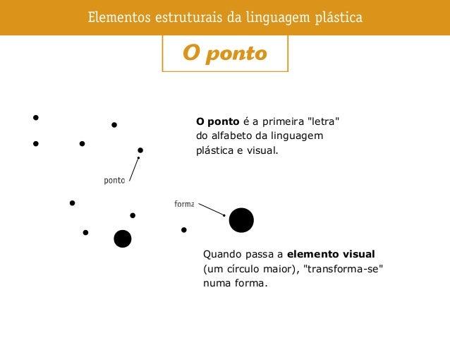 """O ponto é a primeira """"letra"""" do alfabeto da linguagem plástica e visual. Quando passa a elemento visual (um círculo maior)..."""