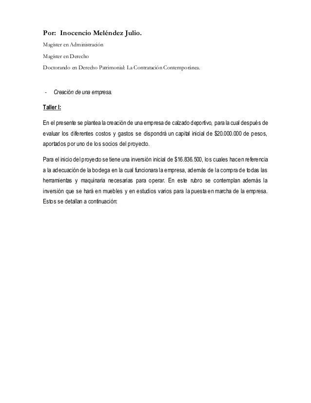 Por: Inocencio Meléndez Julio.  Magíster en Administración  Magíster en Derecho  Doctorando en Derecho Patrimonial: La Con...