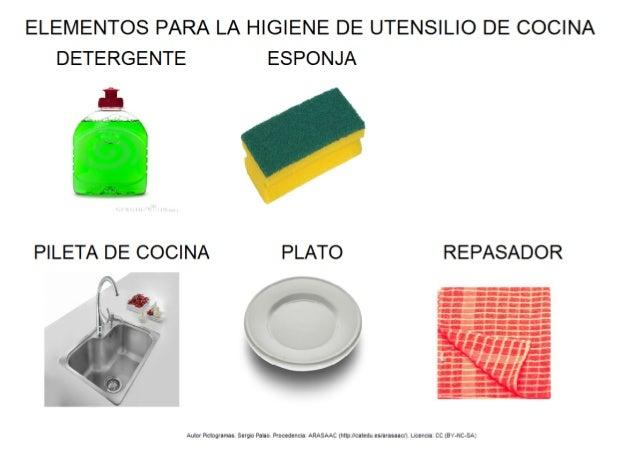 Elementos para la higiene de utensilio de cocina for Elementos cocina