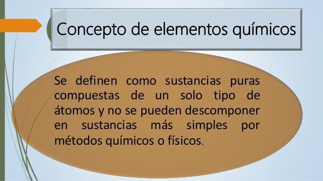elementos qumicos 2 concepto - Tabla Periodica De Los Elementos Quimicos Definicion