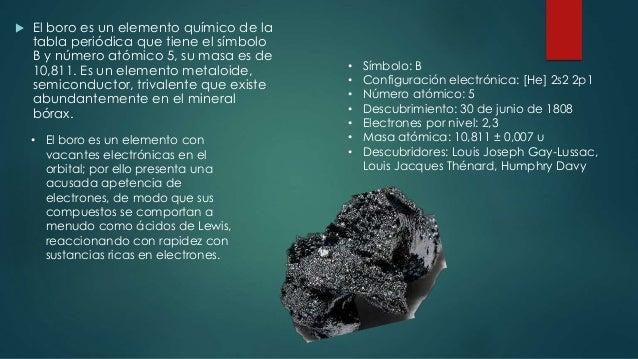 Elementos traza boro 16 el boro es un elemento qumico de la tabla peridica urtaz Gallery