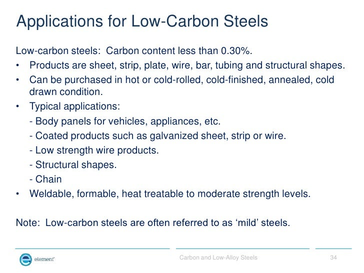 Carbon And Low Alloy Steels For Non Metallurgists