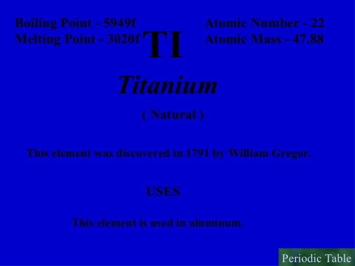 periodic table 23 - Periodic Table Titanium Atomic Mass