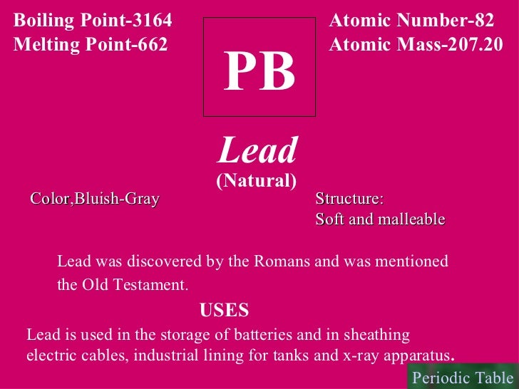 Lead Atomic Mas... Lead Atom