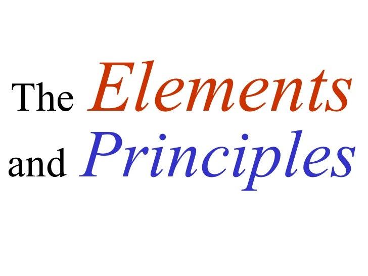 The   Elementsand   Principles
