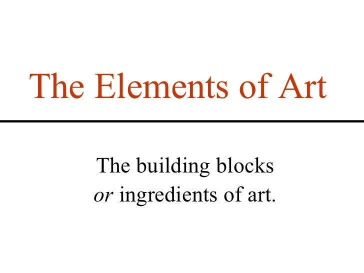Aspects Of Art : Elements and principles of art