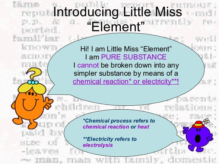 Elements compounds and mixtures grade 7