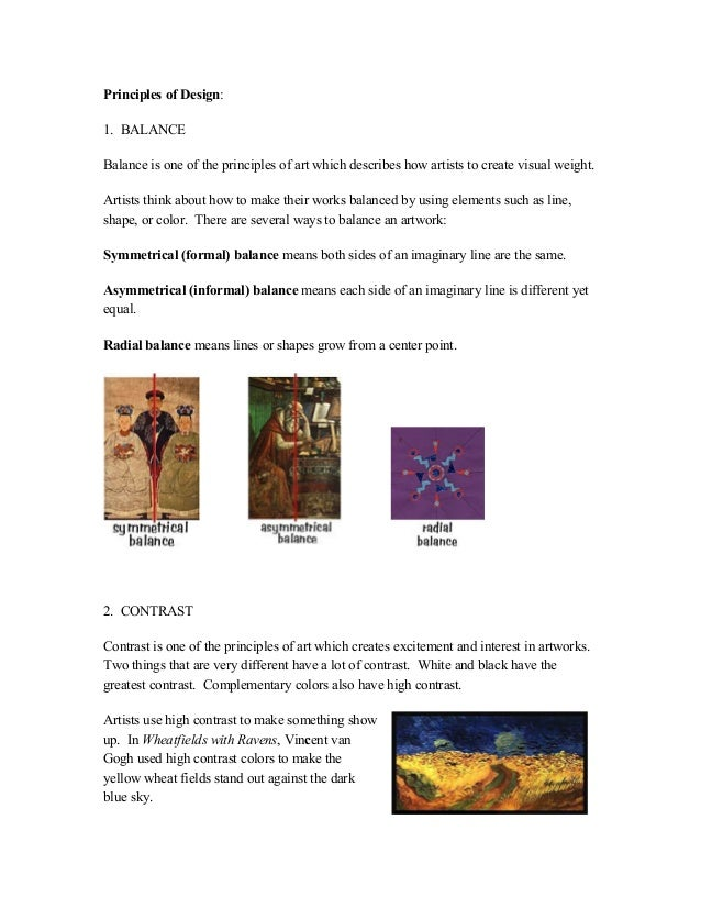 Principles Of Art Contrast Meaning : Elements of art and principles design