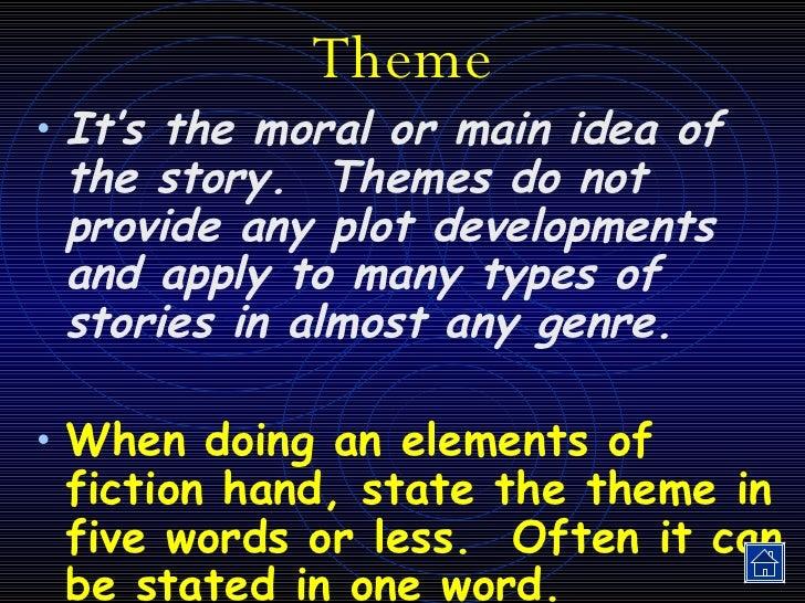 Elements Of Fiction Slide 3
