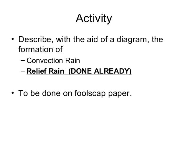 Secondary Three Geography Elements Relative Humidity And Rain
