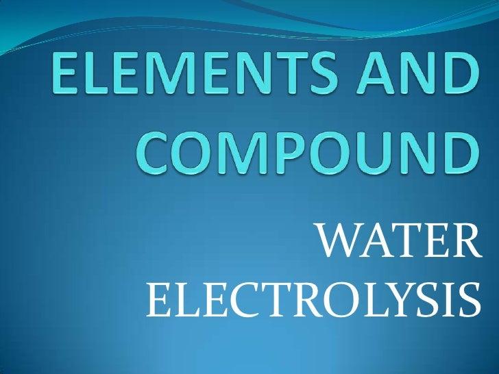 WATERELECTROLYSIS
