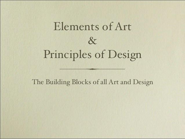 5 Principles Of Design Art : Elements and principles pdf version
