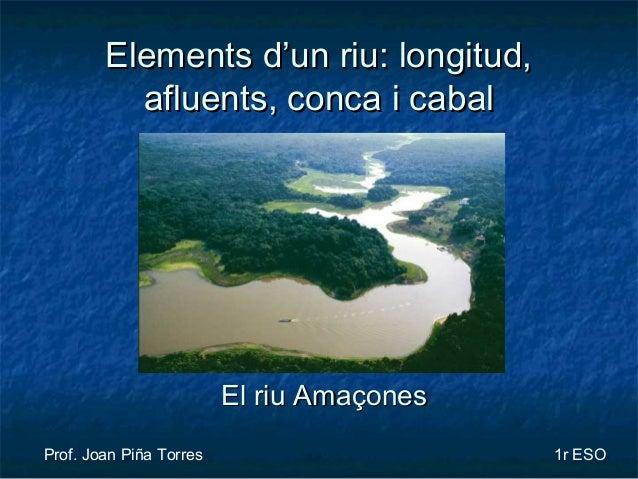 Elements d'un riu: longitud,Elements d'un riu: longitud, afluents, conca i cabalafluents, conca i cabal Prof. Joan Piña To...