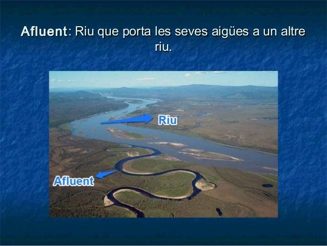 AfluentAfluent: Riu que porta les seves aigües a un altre: Riu que porta les seves aigües a un altre riu.riu.