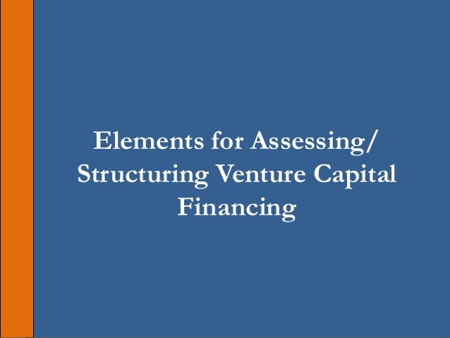 Elements for Assessing/ Structuring Venture Capital Financing
