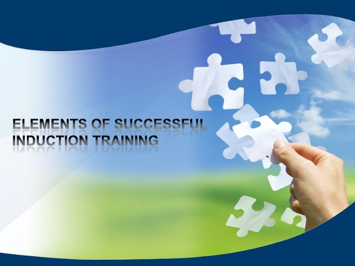 presentation on elements of successful induction training