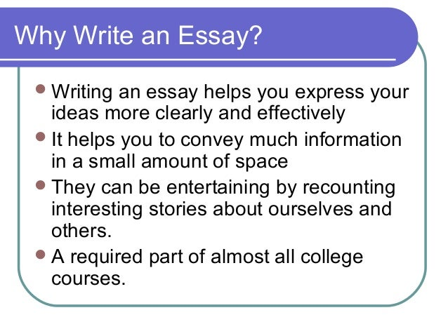 elements of an essay writing Some elements of an essay∗ mark andrews 1 introduction an essay is a means of communication with an essay, we present a specific point of view on a.