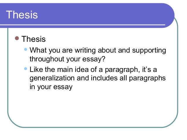 basic elements and features of essay