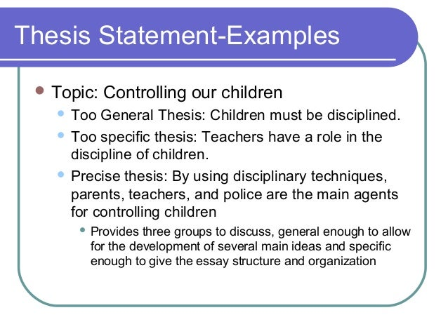 precision in writing a thesis statement Getting students to write thesis statements and then support those statements with well-crafted topic sentences are the keys to building an argument it's a skill the students struggle with but is such a key skill to success in all subjects a variation to this could be to get another group to edit the students' thesis statements.