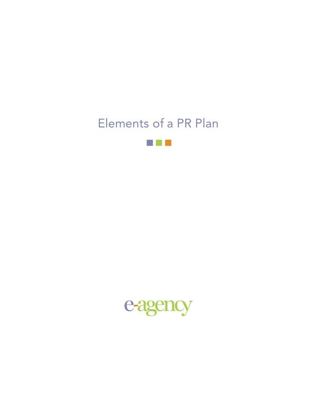 Elements of a PR Plan