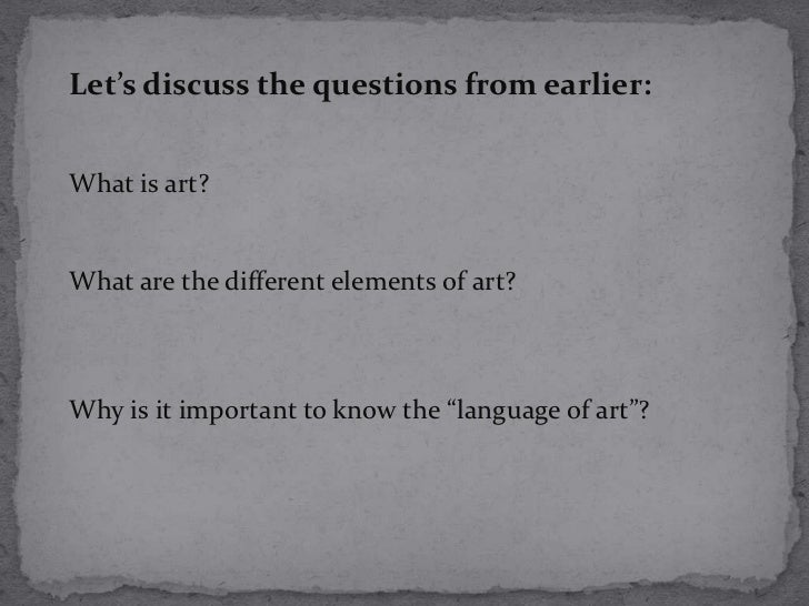 What Are The Different Elements Of Art : Elements of art