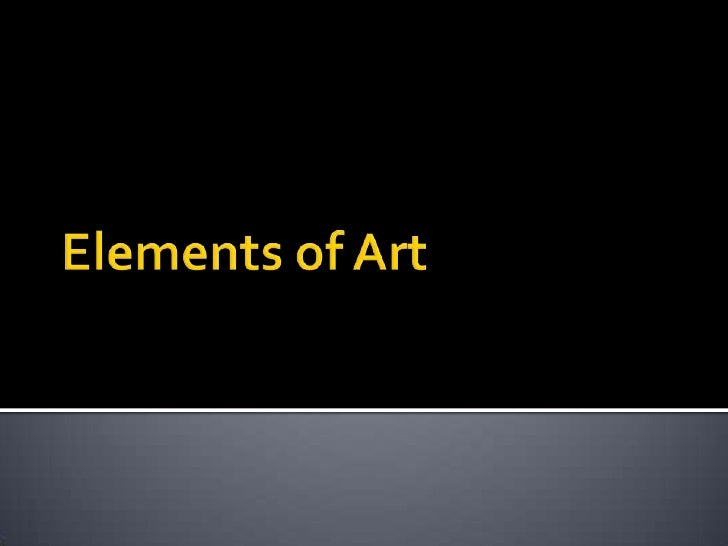 Elements of Art<br />
