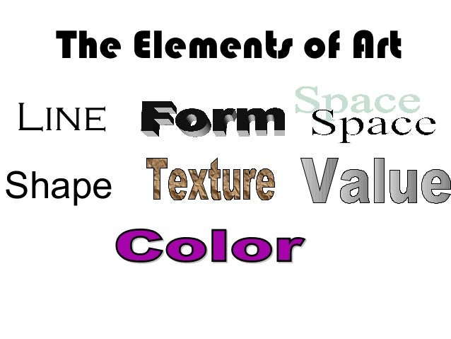 Line Shape The Elements of Art
