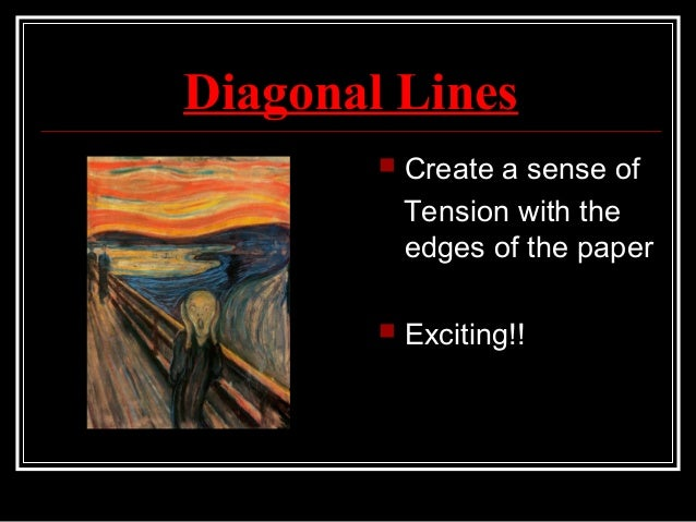 Diagonal Line Definition In Art : Elements of art line