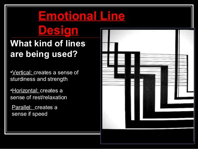 Emotional Lines In Art : Elements of art line
