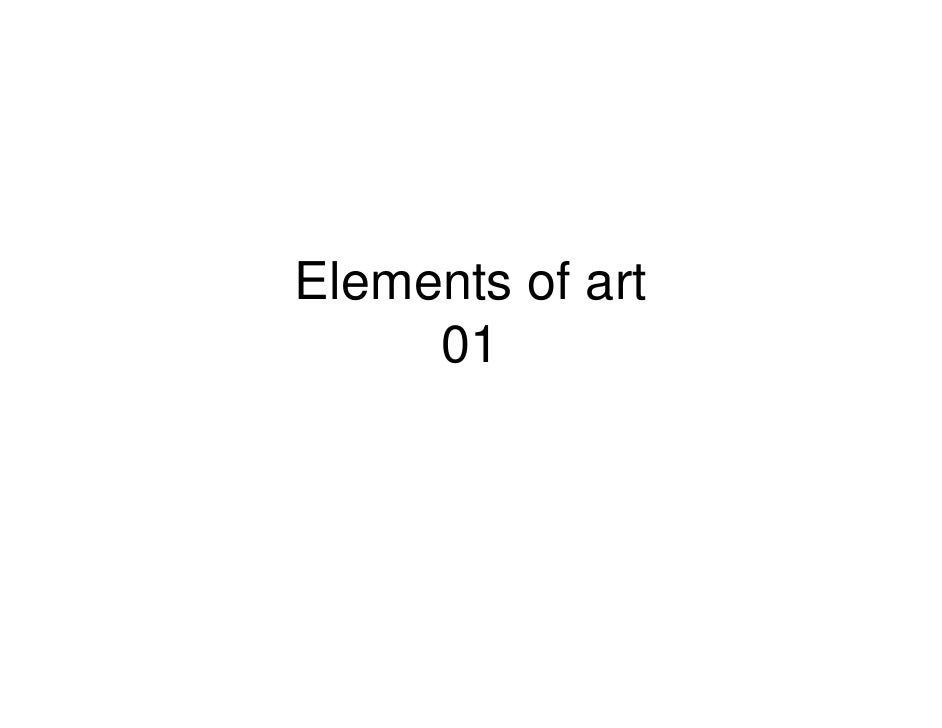 Elements of art     01