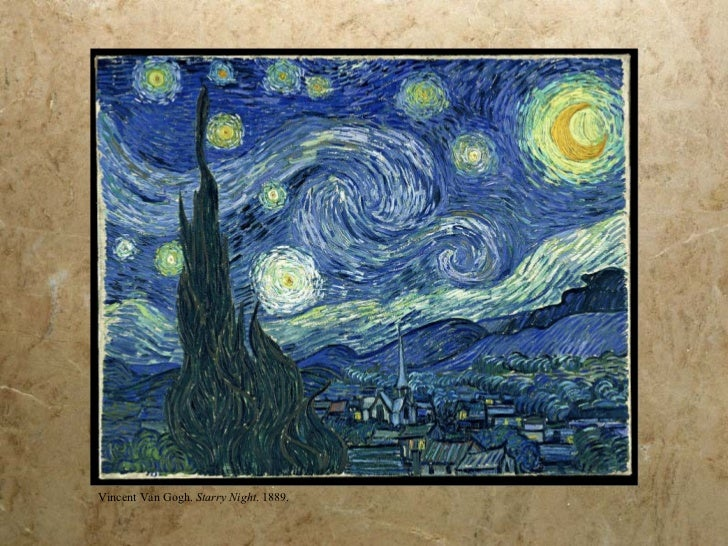 Vincent Van Gogh.  Starry Night . 1889.