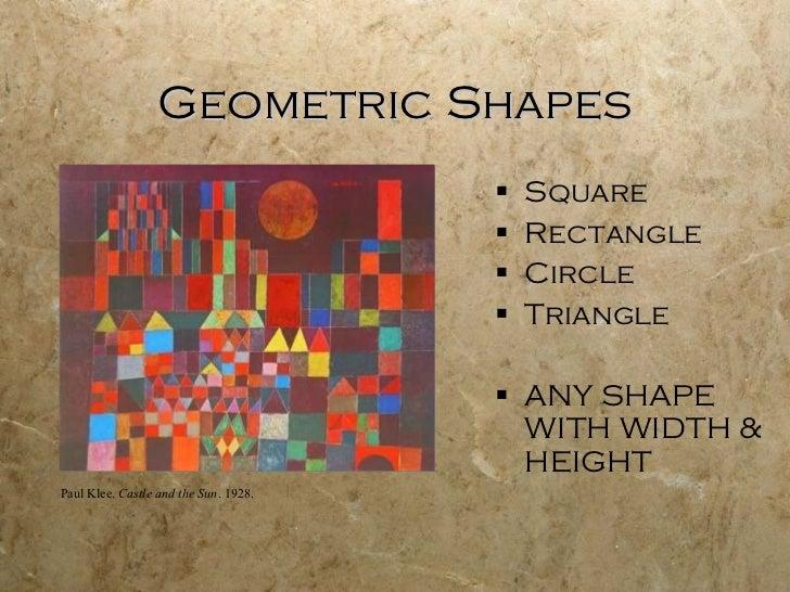 Geometric Shapes <ul><li>Square </li></ul><ul><li>Rectangle </li></ul><ul><li>Circle </li></ul><ul><li>Triangle </li></ul>...