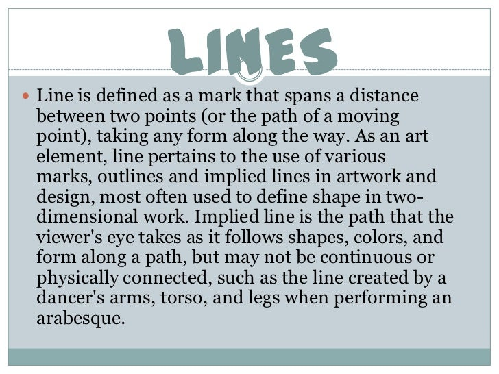 Line Art Element Definition : Elements of arts