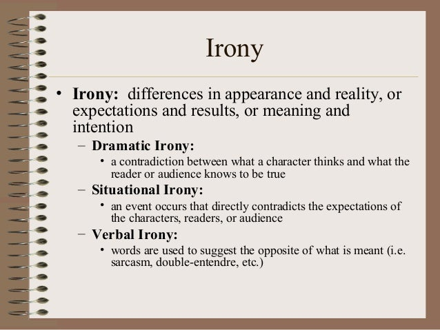 Irony Definition Literary Terms S