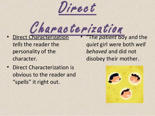 Elements of a story powerpoint – Direct and Indirect Characterization Worksheet