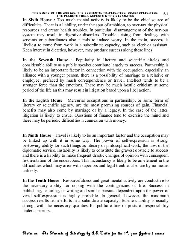 Elements of astrology notes for students 61 urtaz Images