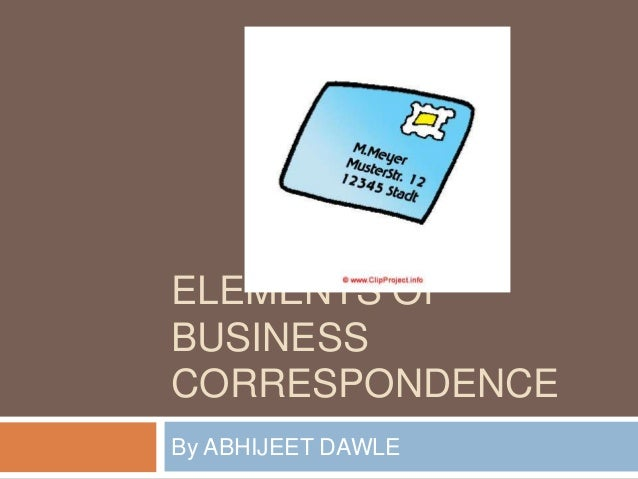 Elements Of Business Letter
