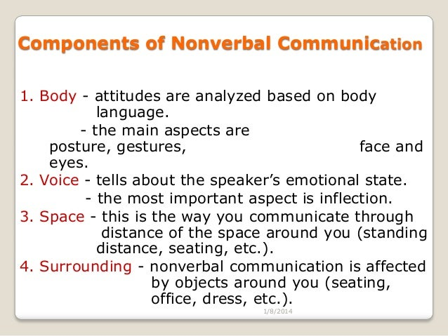 most important aspects of body language The important part is that most communication is  nonverbal behavior is the most crucial aspect of  what is required in order to become a body language.