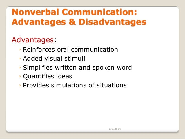 individual communication advantages and disadvantages The advantages of facebook for businesses such as targeted advertising   negative feedback: the two-way communication nature of facebook means that .