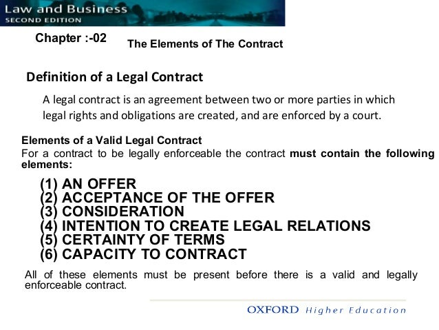 understand the essential elements of a valid contract in a business context