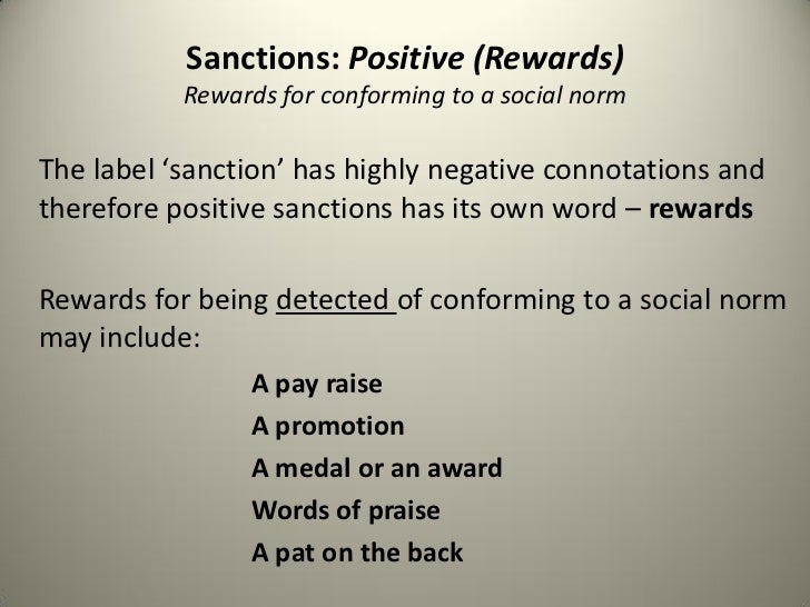 negative sanction sociology