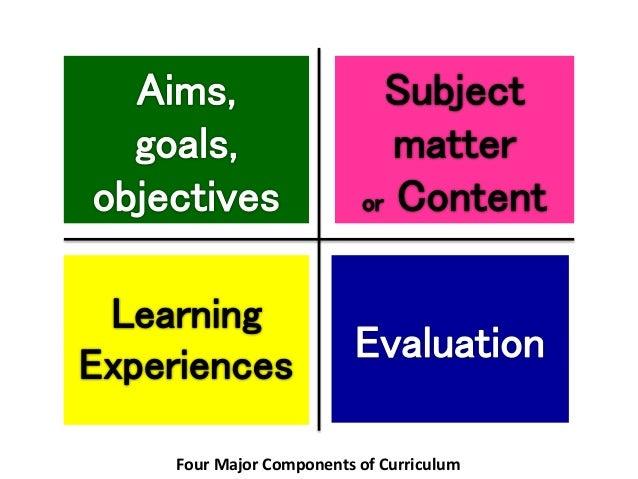 elements of curriculum