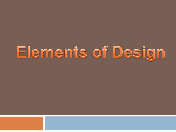 Elements of design-Josh, Jenny, Meredith